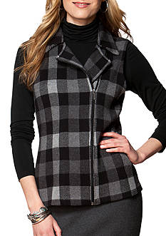 Chaps Buffalo Check Sweater Vest