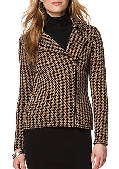 Chaps Houndstooth Cotton Jacket