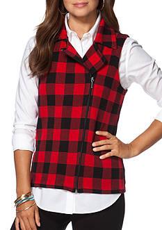 Chaps Buffalo Check Sweater Vest