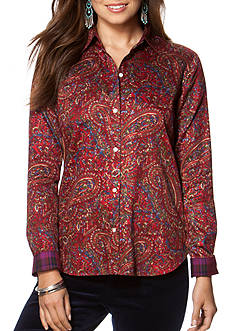 Chaps Non-Iron Paisley Sateen Shirt