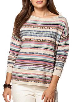 Chaps Long Sleeve Fair Isle Sweater