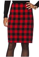 Chaps Buffalo Check Pencil Skirt