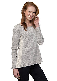 Leo & Nicole Long Sleeve French Terry Top
