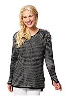 Leo & Nicole Long Sleeve Stitch Sweater