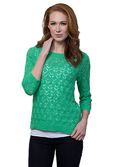 Leo & Nicole Pullover Sweater With Crew Neckline