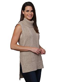 Leo & Nicole Tall Turtleneck Sleeveless Pullover Sweater