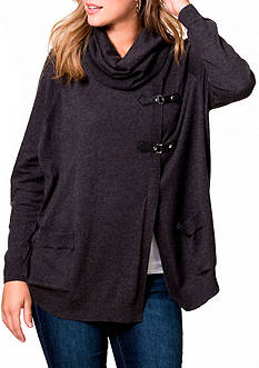 Leo & Nicole Long Sleeve Cowl Neck Pullover