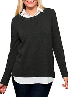 Leo & Nicole Long Sleeve Pullover Sweater