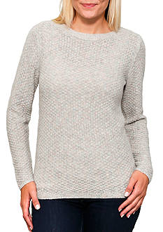 Leo & Nicole Long Sleeve Boatneck Pullover Sweater