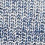 Women: Leo & Nicole Sweaters: Blue Leo & Nicole Long Sleeve Spacedye Open Cardigan