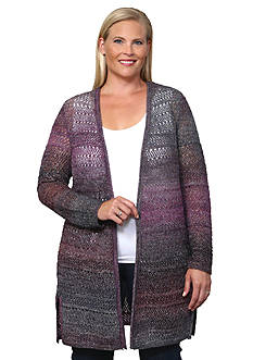 Leo & Nicole Mixed Pattern Cardigan Sweater