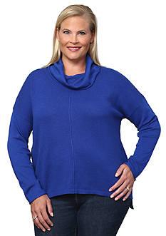 Leo & Nicole Plus Size Cowlneck Pullover Sweater
