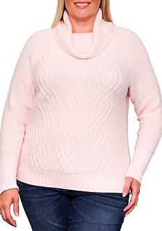 Leo & Nicole Long Sleeve Cowl Neck Pullover Sweater