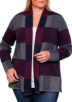 Leo & Nicole Long Sleeve Open Cardigan Sweater