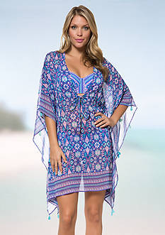 Bleu Rod Beattie California Dreamin' Caftan Cover-Up