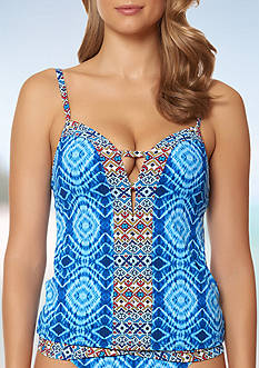 Bleu Rod Beattie Mykonos Plunge Tankini Swim Top