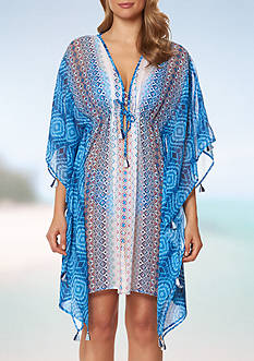 Bleu Rod Beattie Mykonos Caftan Swim Cover Up