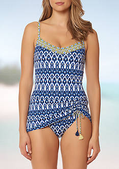 Bleu Rod Beattie Road To Morocco Skirted One Piece Swimsuit