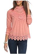 Taylor & Sage Long Sleeve High Neck Top