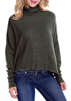 Taylor & Sage Mock Neck Zip Back Sweater