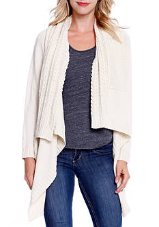 Taylor & Sage Mix Cable Cardigan