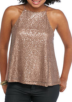 Taylor & Sage Allover Sequin Tank