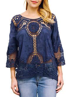 Taylor & Sage Reorder Crochet Top