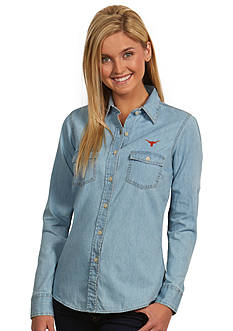 Antigua Texas Longhorns Long Sleeve Chambray Shirt
