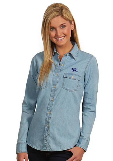 Antigua® Kentucky Wildcats Long Sleeve Chambray Shirt