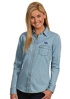 Antigua Kentucky Wildcats Long Sleeve Chambray Shirt