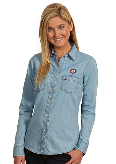 Antigua® Alabama Crimson Tide Long Sleeve Chambray Shirt