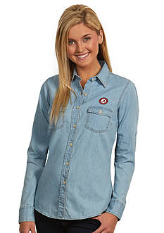 Antigua Alabama Crimson Tide Long Sleeve Chambray Shirt