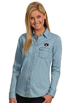 Antigua Auburn Tigers Long Sleeve Chambray Shirt