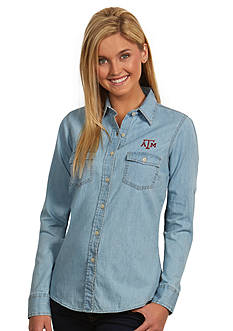 Antigua Texas A & M Aggies Long Sleeve Chambray Shirt