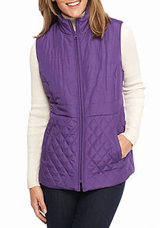Kim Rogers Microfiber Quilted Vest
