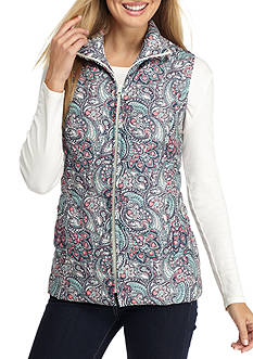 Kim Rogers Microfiber Quilted Vest Paisley