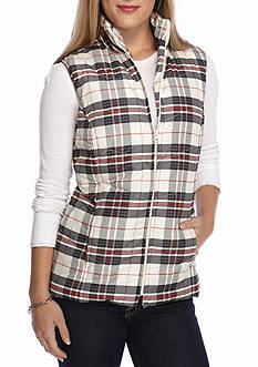 Kim Rogers Quilted Plaid Vest