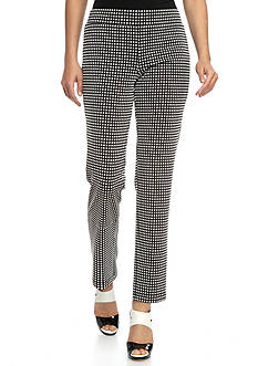 Melissa Paige Textured Dot Puff Print Pants