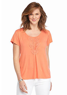 Melissa Paige Crochet Accent Top