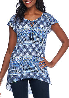 Melissa Paige Patterned Woven Top