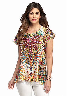 Melissa Paige Carnival High Low Knit Top