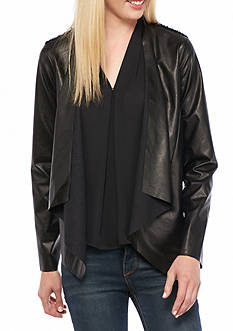 Melissa Paige Faux Leather Jacket