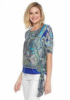Melissa Paige Paisley Palace Side Tie Top