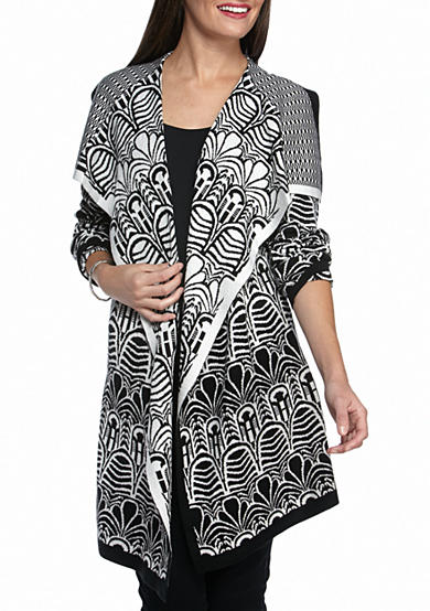Melissa Paige Cathedral Jacquard Sweater Cardigan