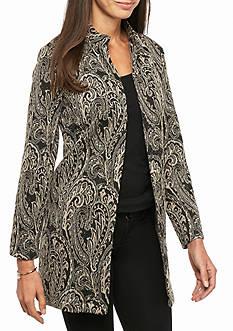 Melissa Paige Open Front Jacquard Jacket