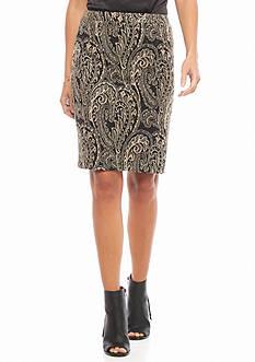 Melissa Paige Women's Short Swirl Print Skirt