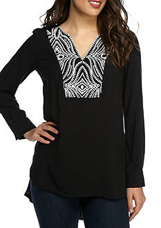 Melissa Paige Embroidered Tunic