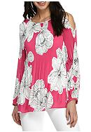 Melissa Paige Forever Floral Pleated Blouse