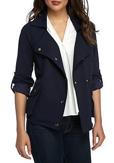 Melissa Paige Scuba Crepe Novelty Jacket
