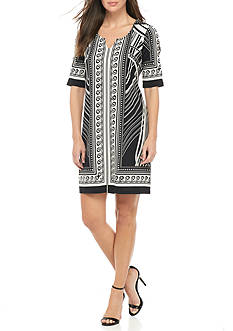 Melissa Paige Nouveau Split Neck Dress